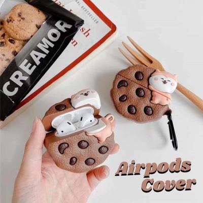 에어팟 충전 케이스 1/2/PRO 초코칩 쿠키 카라비너SET
