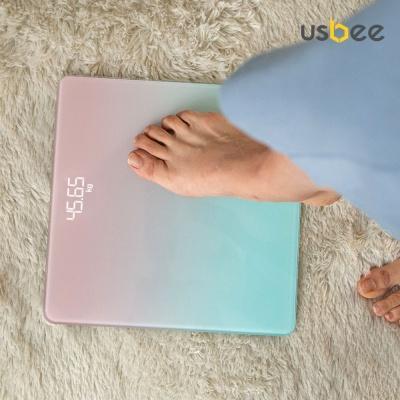 [USBEE] 유즈비 파스텔 LED 체중계 2세대 온도측정
