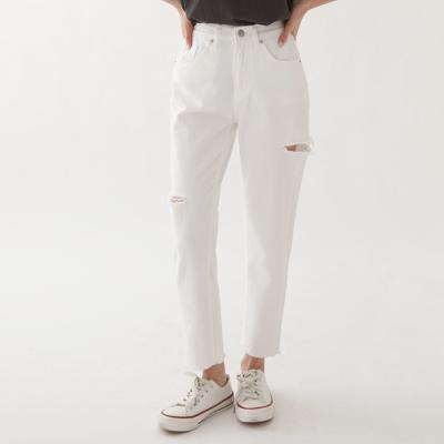 White Boy Fit Distressed Jeans