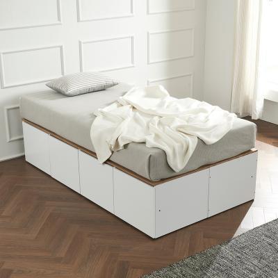 우앤 대용량 도어형 높은침대 침대SS+본넬 매트리스