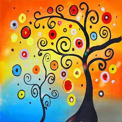 행운나무 (패브릭) 보석십자수 25x25