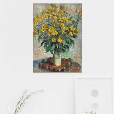 주문제작 액자 Monet  Jerusalem Artichoke Flowers