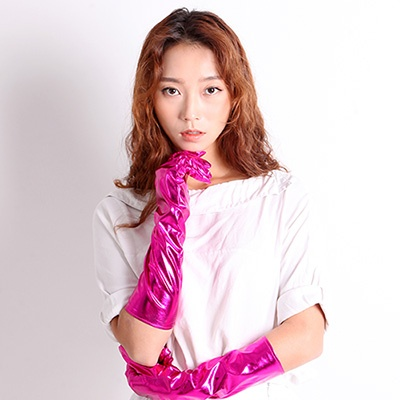섹시파티 은박장갑 38cm(핑크)