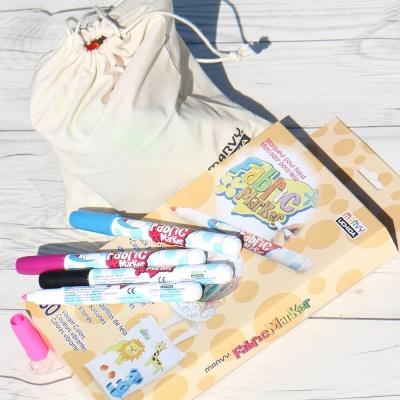 다림질 없이 옷,신발 등에 직접 그리는 옷그림마카...일본 우찌다 무독성 패브릭마카 30색세트