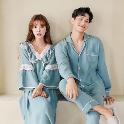 [쿠비카]드레이프성 굿 레이온 원피스 커플잠옷 WM278
