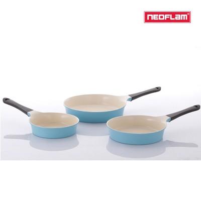 네오플램 에콜론 애니 후라이팬 3종세트 (20cm+24cm+28cm) 민트색상