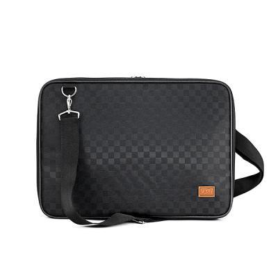 노트북가방 15.6인치 사각체크 블랙 심플형
