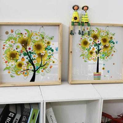 cl340-우드프레임액자_행복이자라는해바라기나무