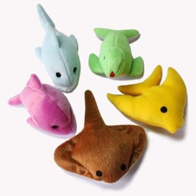 강아지 봉제장난감 바닐린향 물고기 시리즈 임의발송