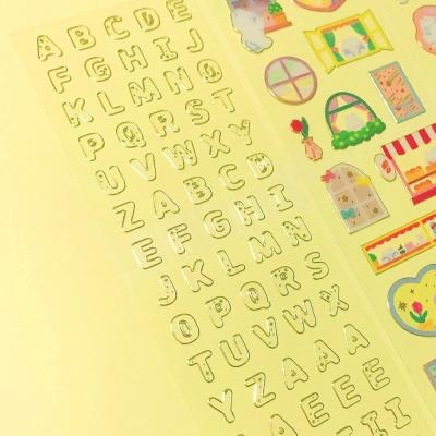 투명금테 투명도100% Alphabet 칼선 스티커