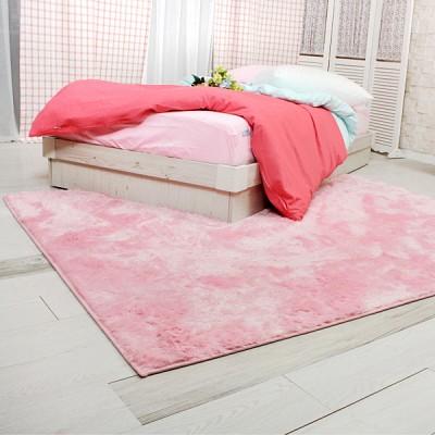 로맨틱 핑크 스퀘어 러그