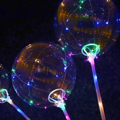 LED 투명풍선 풀세트 (풍선/전구/컵스틱) 색상랜덤