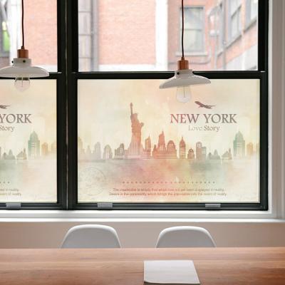 창문 유리창시트지 칼라 안개시트지 뉴욕러브스토리01