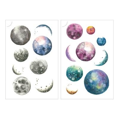 Miccudo 프린트-온 스티커 (19.Planet)