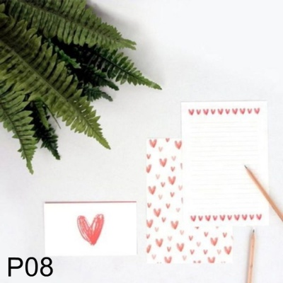 DNF 사랑스러운 하트 편지지 레인보우 P08