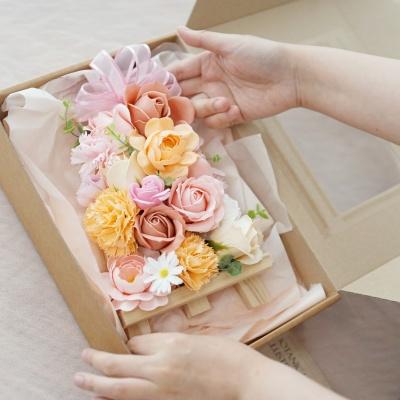 DIY 어버이날 가정의달 비누꽃 미니 화환 만들기