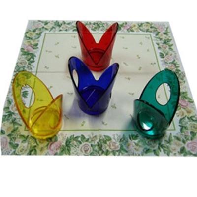 아크릴 컵홀더 종이컵받침 4색4P 손님대접 주방용품