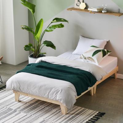 인터데코 원목 마루형 침대 수퍼싱글 (포켓매트) OT018B