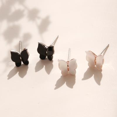 제이로렌 04M01540 크림빛 컬러감 자개 나비귀걸이