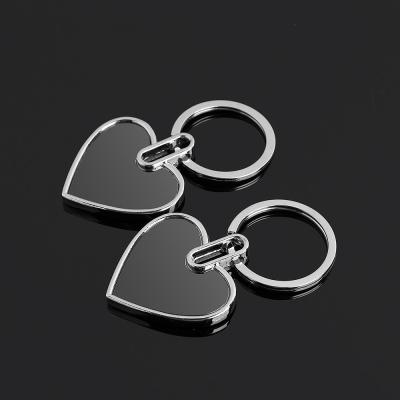블랙 로고 키홀더 열쇠고리(하트)