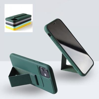 아이폰se2 8 7 + 핸드 스트랩 거치대 컬러젤리 케이스