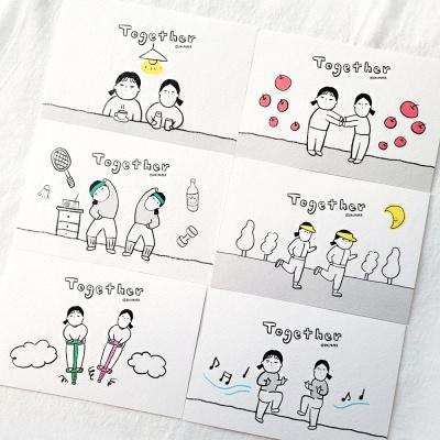 [달페이퍼] 6종 투게더 엽서