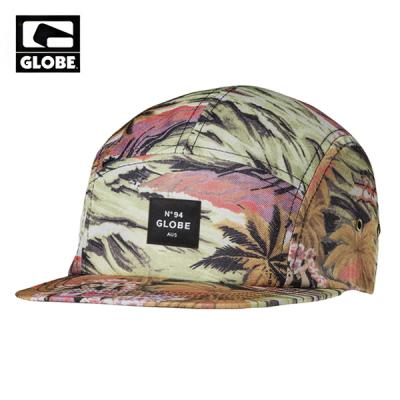 [GLOBE] MONTAGUE 5 PANEL CAP (RED)