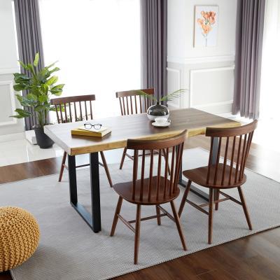 모크로 우드슬랩 식탁 테이블 6인 1800