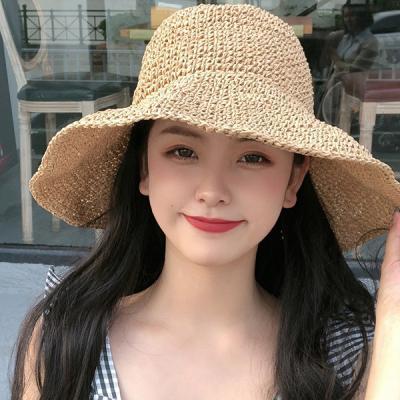 맥스 여성 밀짚모자 왕골 자외선차단 모자