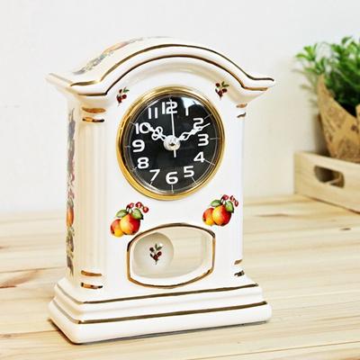 (kgse015 B)도자기 프룻탁상시계