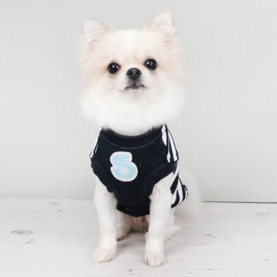 강아지겨울옷 포켓스트라이프탱크톱