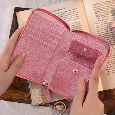 D.LAB Twinkle Zipper Wallet - Pink