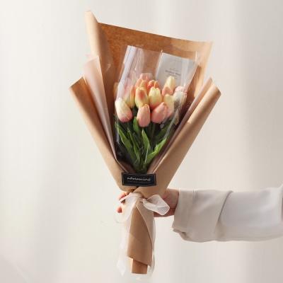 화이트데이 수제초콜릿 튤립 사탕꽃다발-핑크