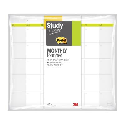 3M 포스트-잇® 스터디메이트 먼슬리/위클리 플래너
