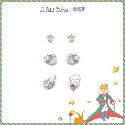 어린왕자와 실버달빛 패키지귀걸이  OTE619604A