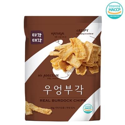 [속초명물] 바삭바삭 감칠맛 우엉 부각 60gx3개
