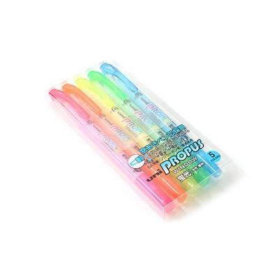 프로퍼스 윈도우 형광펜-4.0mm/0.6mm트윈팁-5SET