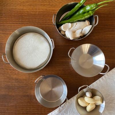 미니 양손 스텐 냄비 (5가지사이즈)