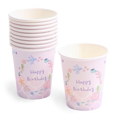 생일 파티컵 (10개입) 인어공주