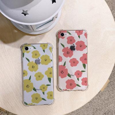 아이폰XS MAX 꽃 패턴 방탄케이스