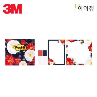 3M 포스트잇 수첩식 마리몬드 동백팩