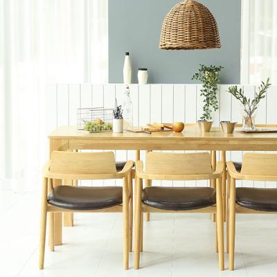 [채우리] 이랑 6인 원목 식탁세트(의자)