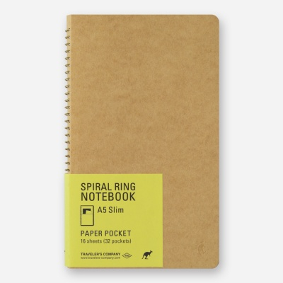 SPIRAL RING NOTEBOOK (A5 Slim) Paper Pocket