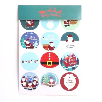 크리스마스 스티커 (3장입) 산타