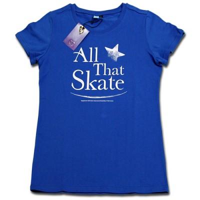 김연아 Yuna Kim 낙원댄스 올댓스케이트 All That Skate 아이스쇼 공식 티셔츠 올댓스포츠 티 여성용 블루 S 사이즈