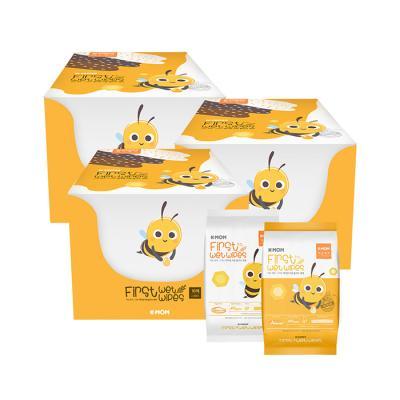 휴대용10매 꿀벌 행복물티슈 60팩 / 안전한물티슈
