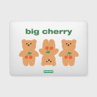 Three cherry big bear(맥북-투명)