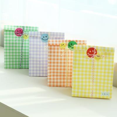 체크 구디백 선물 답례품 포장 페이퍼 봉투 4color