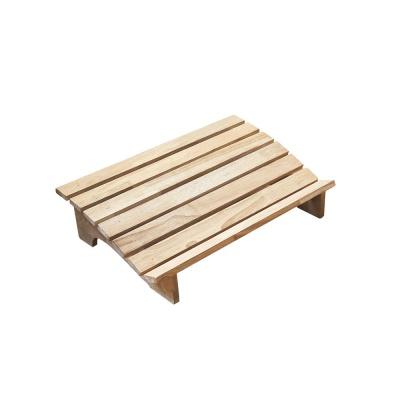 고무나무 원목 와이드 발받침대