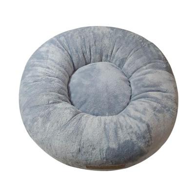 원형방석 블루그레이 깔개 반려견쿠션 애완방석 매